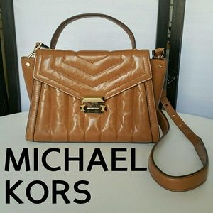 MICHAEL KORS NWOT 'WHITNEY' QUILTED SATCHEL PURSE